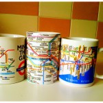 Koffiemok met plattegrond metro