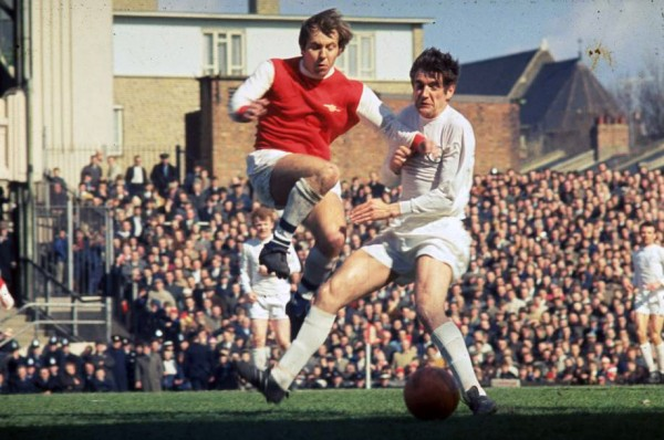 Arsenal v Leeds United ergens in de jaren '70