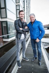 Dave en Dries Roelvink, foto: Mats van Soolingenhet Parool
