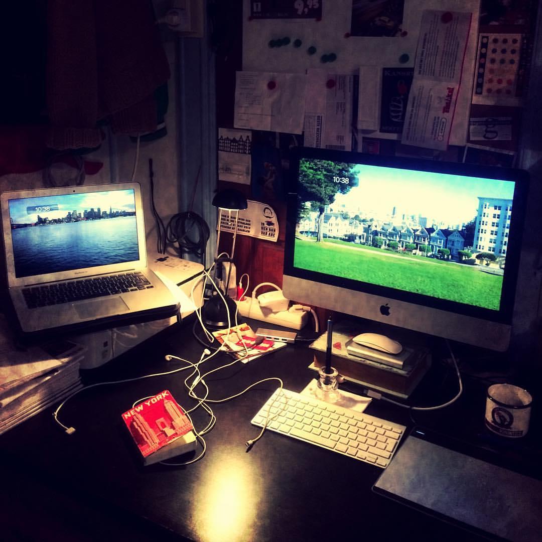 Het bureau van een zzp'er